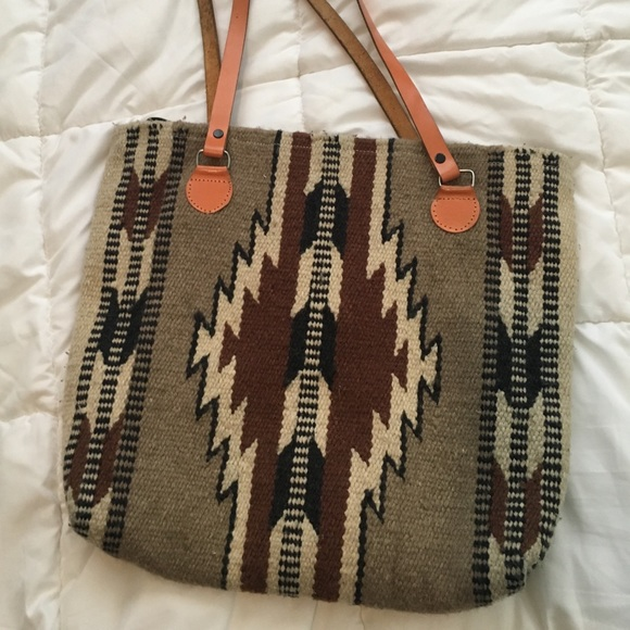 a32d3f5ea3665 Bags | Aztec Tribal Native Southwestern Wool Tote | Poshmark